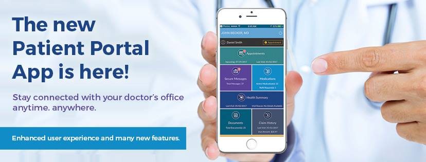 Patients can access their medical information via the patient portal app