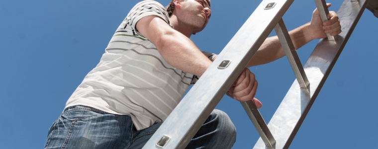 Achilles tendon injuries can happen from household tasks like climbing a ladder.